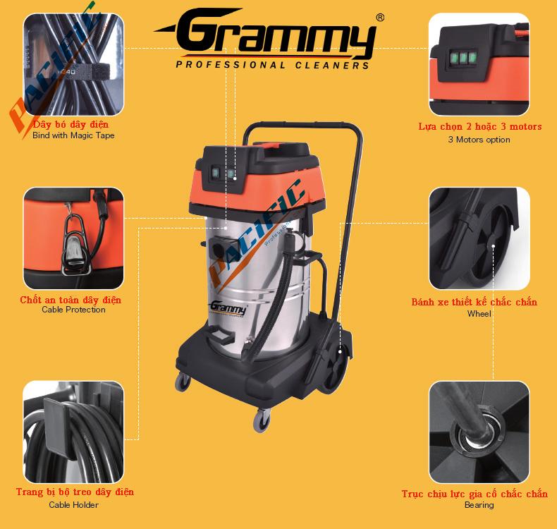 máy hút bụi công nghiệp grammy nt75/2st
