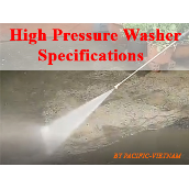 High Pressure Washer Specifications